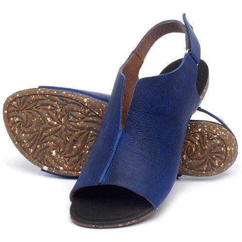 Laranja_Lima_Shoes_Sapatos_Femininos_Sandalia_Rasteira_Flat_em_Couro_Azul_-_Codigo_-_148029_2