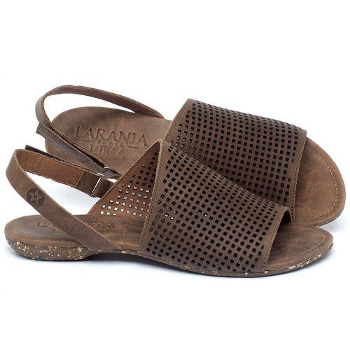 Laranja_Lima_Shoes_Sapatos_Femininos_Sandalia_Rasteira_Flat_em_Couro_Marrom_-_Codigo_-_148031_1