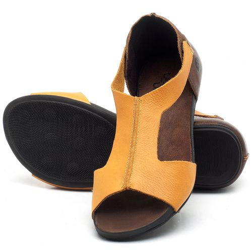 Laranja_Lima_Shoes_Sapatos_Femininos_Sandalia_Rasteira_Flat_em_Couro_Amarelo_-_Codigo_-_137186_2