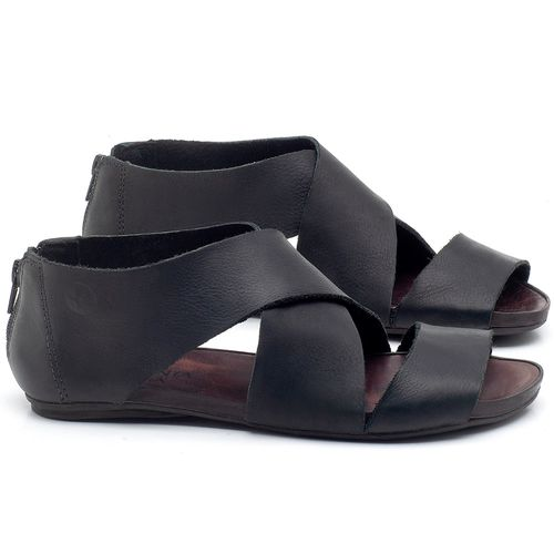 Laranja_Lima_Shoes_Sapatos_Femininos_Sandalia_Rasteira_Flat_em_Couro_Preto_-_Codigo_-_137213_1