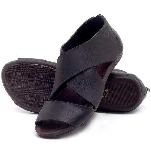 Laranja_Lima_Shoes_Sapatos_Femininos_Sandalia_Rasteira_Flat_em_Couro_Preto_-_Codigo_-_137213_2