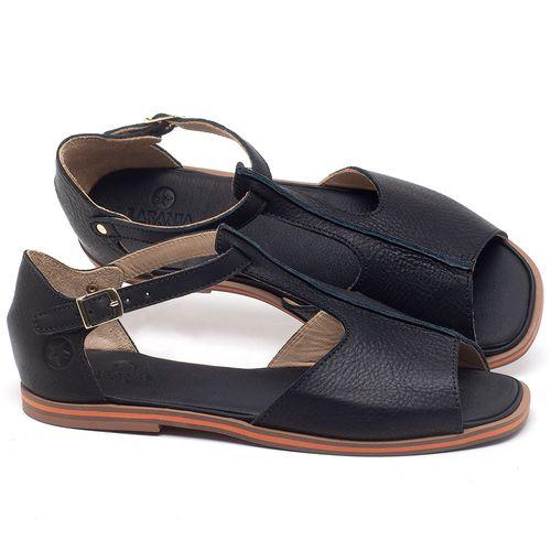 Laranja_Lima_Shoes_Sapatos_Femininos_Sandalia_Rasteira_Flat_em_Couro_Preto_-_Codigo_-_3056_1