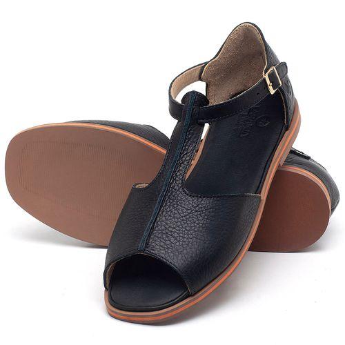 Laranja_Lima_Shoes_Sapatos_Femininos_Sandalia_Rasteira_Flat_em_Couro_Preto_-_Codigo_-_3056_2