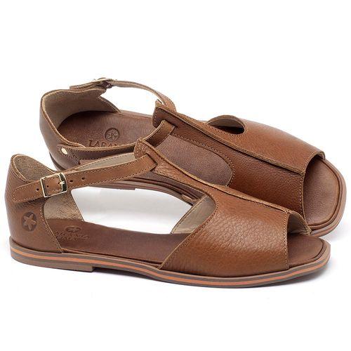Laranja_Lima_Shoes_Sapatos_Femininos_Sandalia_Rasteira_Flat_em_Couro_Caramelo_-_Codigo_-_3056_1