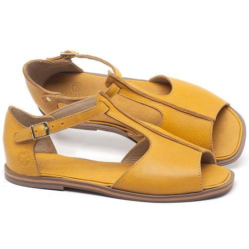 Laranja_Lima_Shoes_Sapatos_Femininos_Sandalia_Rasteira_Flat_em_Couro_Amarelo_-_Codigo_-_3056_1