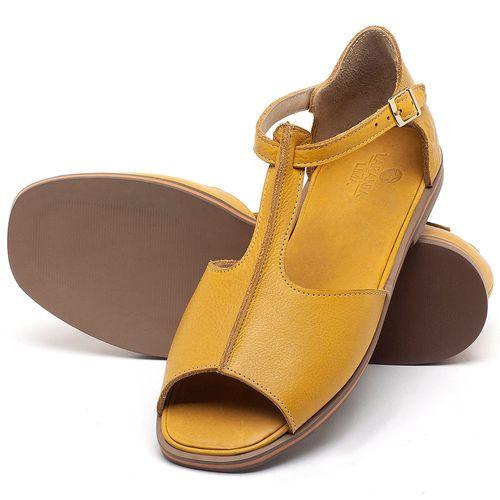 Laranja_Lima_Shoes_Sapatos_Femininos_Sandalia_Rasteira_Flat_em_Couro_Amarelo_-_Codigo_-_3056_2