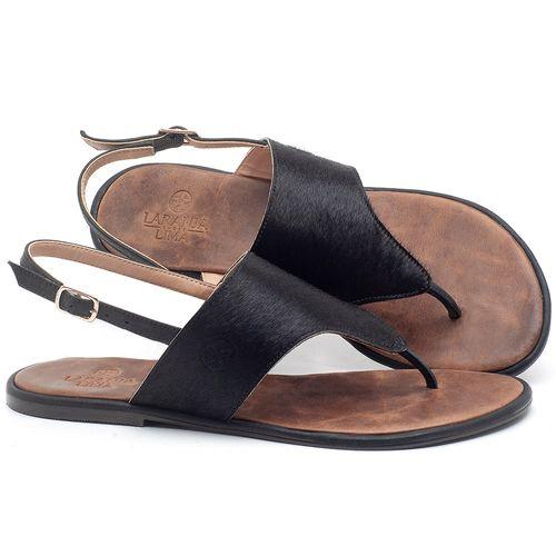 Laranja_Lima_Shoes_Sapatos_Femininos_Sandalia_Rasteira_Flat_em_Couro_Preto_-_Codigo_-_3658_1