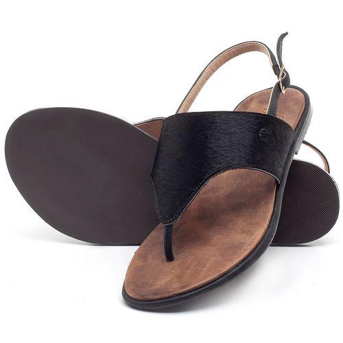 Laranja_Lima_Shoes_Sapatos_Femininos_Sandalia_Rasteira_Flat_em_Couro_Preto_-_Codigo_-_3658_2