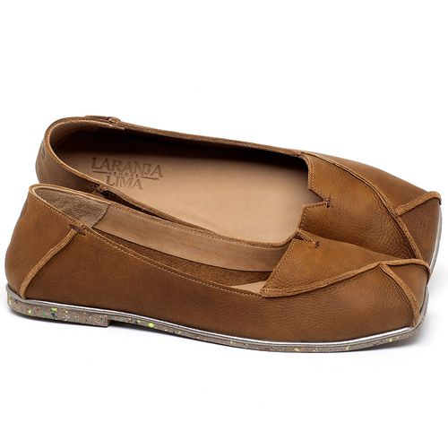 Laranja_Lima_Shoes_Sapatos_Femininos_Sapatilha_Bico_Quadrado_em_Couro_Caramelo_-_Codigo_-_145039_1