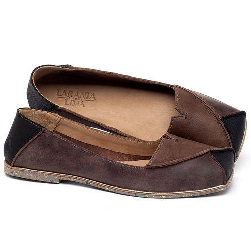 Laranja_Lima_Shoes_Sapatos_Femininos_Sapatilha_Bico_Quadrado_em_Couro_Marrom_-_Codigo_-_145039_1