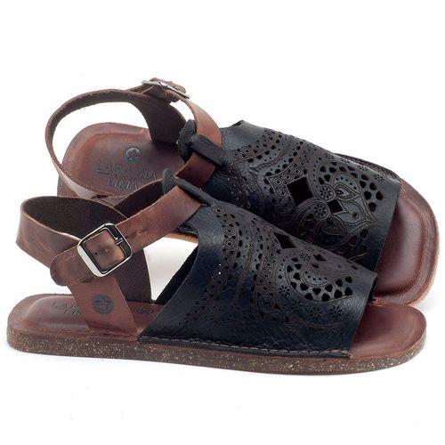 Laranja_Lima_Shoes_Sapatos_Femininos_Sandalia_Rasteira_Flat_em_Couro_Preto_-_Codigo_-_141022_1