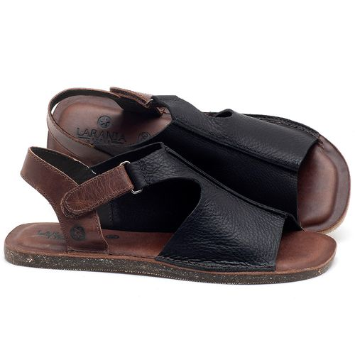 Laranja_Lima_Shoes_Sapatos_Femininos_Sandalia_Rasteira_Flat_em_Couro_Preto_-_Codigo_-_141111_1