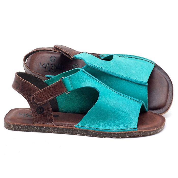 Laranja_Lima_Shoes_Sapatos_Femininos_Sandalia_Rasteira_Flat_em_Couro_Azul_-_Codigo_-_141111_1