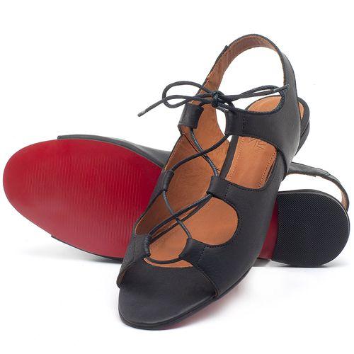 Laranja_Lima_Shoes_Sapatos_Femininos_Sandalia_Rasteira_Flat_em_Couro_Preto_-_Codigo_-_56173_2