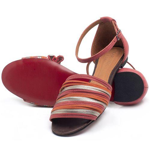 Laranja_Lima_Shoes_Sapatos_Femininos_Sandalia_Rasteira_Flat_em_Couro_Vermelho_-_Codigo_-_56185_2