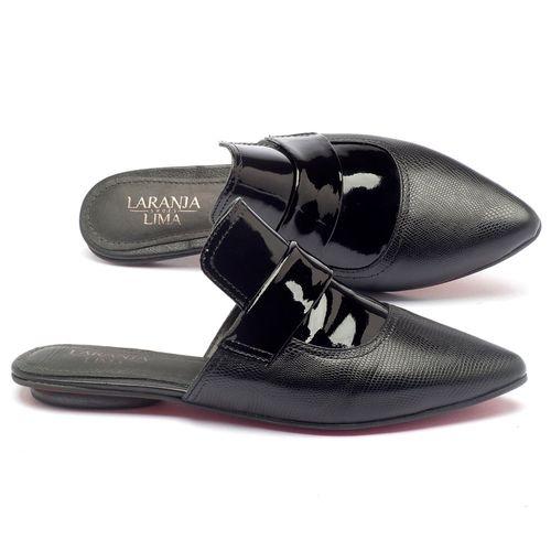 Laranja_Lima_Shoes_Sapatos_Femininos_Sandalia_Rasteira_Flat_em_Couro_Preto_-_Codigo_-_56110_1
