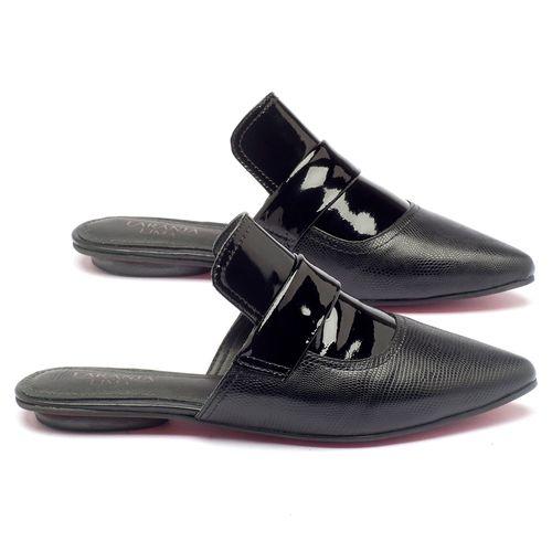 Laranja_Lima_Shoes_Sapatos_Femininos_Sandalia_Rasteira_Flat_em_Couro_Preto_-_Codigo_-_56110_2