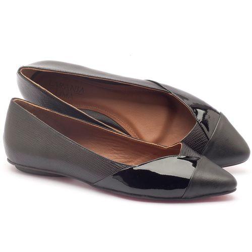 Laranja_Lima_Shoes_Sapatos_Femininos_Sapatilha_Bico_Fino_em_Couro_Preto_-_Codigo_-_56120_1