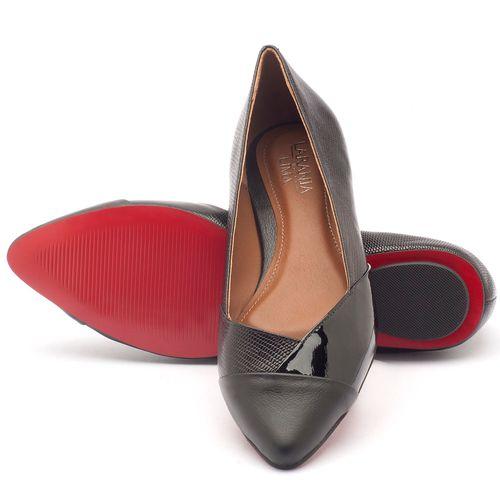 Laranja_Lima_Shoes_Sapatos_Femininos_Sapatilha_Bico_Fino_em_Couro_Preto_-_Codigo_-_56120_2