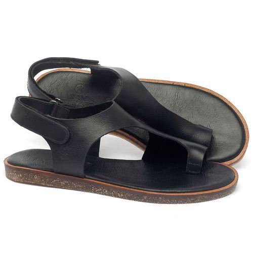 Laranja_Lima_Shoes_Sapatos_Femininos_Sandalia_Rasteira_Flat_em_Couro_Preto_-_Codigo_-_141102_1