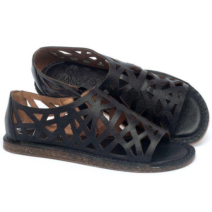 Laranja_Lima_Shoes_Sapatos_Femininos_Sandalia_Rasteira_Flat_em_Couro_Preto_-_Codigo_-_141160_1