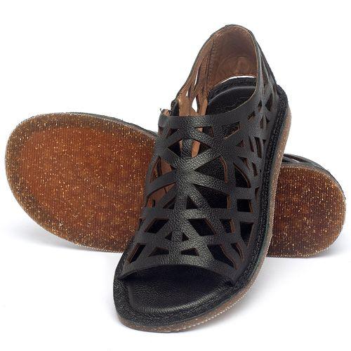 Laranja_Lima_Shoes_Sapatos_Femininos_Sandalia_Rasteira_Flat_em_Couro_Preto_-_Codigo_-_141160_2