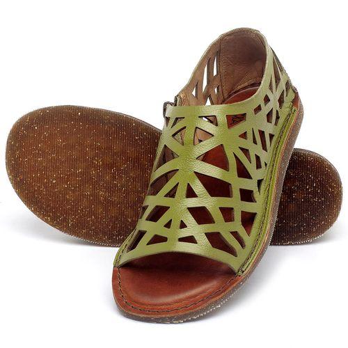 Laranja_Lima_Shoes_Sapatos_Femininos_Sandalia_Rasteira_Flat_em_Couro_Verde_-_Codigo_-_141160_2