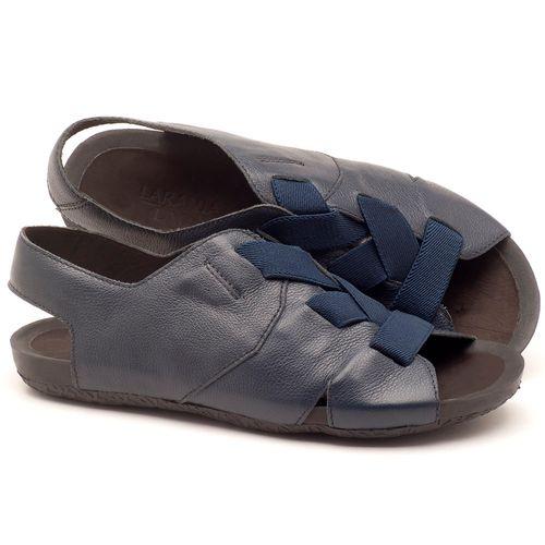 Laranja_Lima_Shoes_Sapatos_Femininos_Sandalia_Rasteira_Flat_em_Couro_Marinho_-_Codigo_-_56140_1