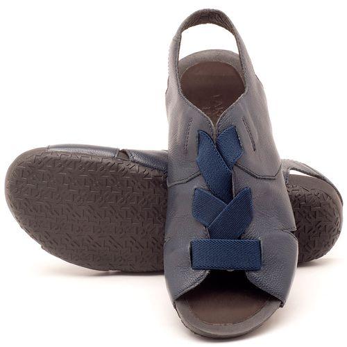 Laranja_Lima_Shoes_Sapatos_Femininos_Sandalia_Rasteira_Flat_em_Couro_Marinho_-_Codigo_-_56140_2
