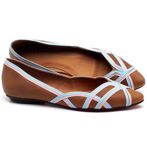 Laranja_Lima_Shoes_Sapatos_Femininos_Sapatilha_Bico_Fino_em_Couro_Caramelo_-_Codigo_-_56176_1