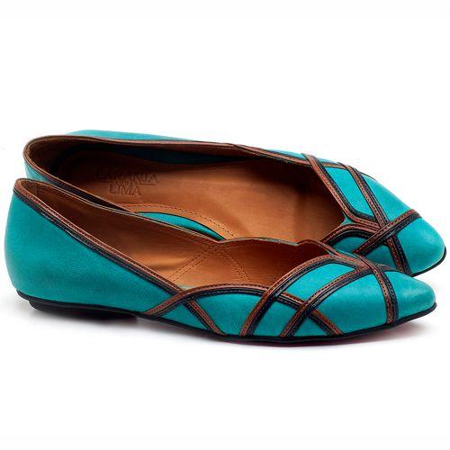 Laranja_Lima_Shoes_Sapatos_Femininos_Sapatilha_Bico_Fino_em_Couro_Azul_-_Codigo_-_56176_1