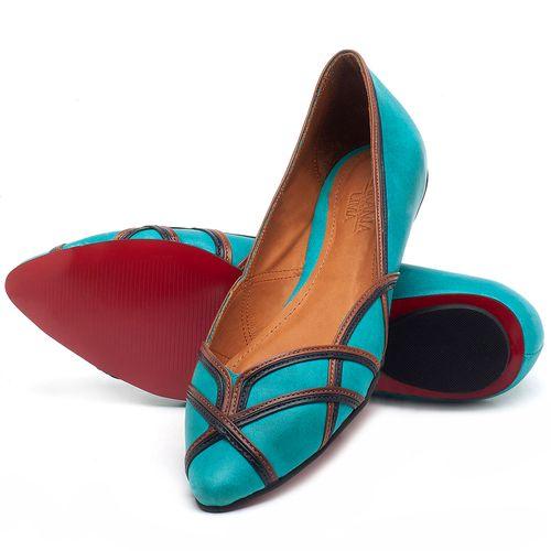 Laranja_Lima_Shoes_Sapatos_Femininos_Sapatilha_Bico_Fino_em_Couro_Azul_-_Codigo_-_56176_2