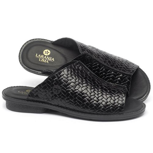Laranja_Lima_Shoes_Sapatos_Femininos_Sandalia_Rasteira_Flat_em_Couro_Preto_-_Codigo_-_139043_1