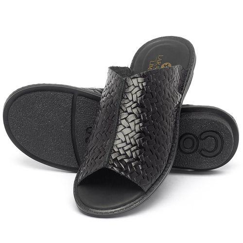 Laranja_Lima_Shoes_Sapatos_Femininos_Sandalia_Rasteira_Flat_em_Couro_Preto_-_Codigo_-_139043_2