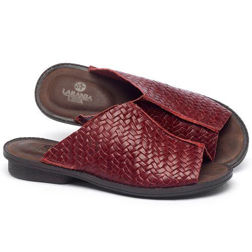 Laranja_Lima_Shoes_Sapatos_Femininos_Sandalia_Rasteira_Flat_em_Couro_Vermelho_-_Codigo_-_139043_1