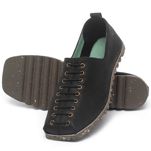 Laranja_Lima_Shoes_Sapatos_Femininos_Sapatilha_Bico_Quadrado_em_Couro_Preto_-_Codigo_-_145051_2