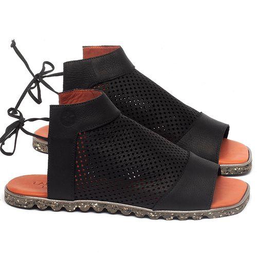 Laranja_Lima_Shoes_Sapatos_Femininos_Sandalia_Rasteira_Flat_em_Couro_Preto_-_Codigo_-_145052_1