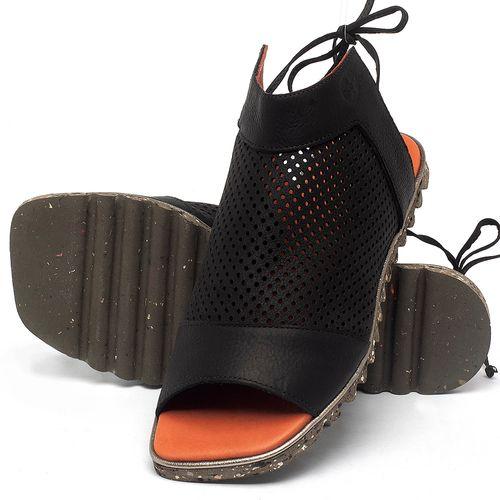 Laranja_Lima_Shoes_Sapatos_Femininos_Sandalia_Rasteira_Flat_em_Couro_Preto_-_Codigo_-_145052_2