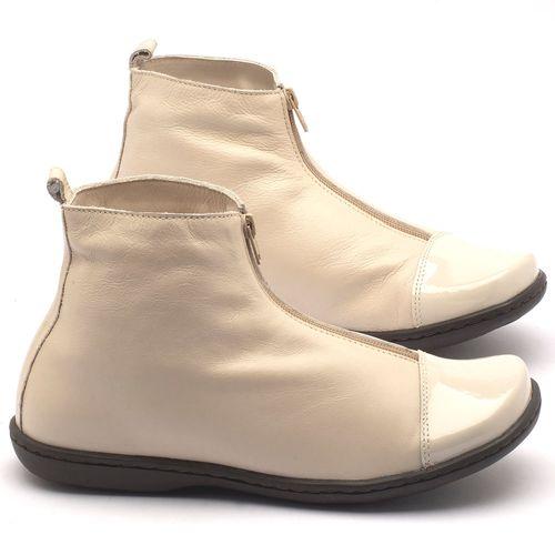 Laranja_Lima_Shoes_Sapatos_Femininos_Flat_Boot_em_Couro_Off-White_-_Codigo_-_56132_1