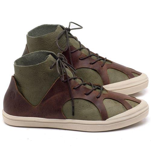 Laranja_Lima_Shoes_Sapatos_Femininos_Tenis_Cano_Alto_em_Couro_Verde_-_Codigo_-_56201_1