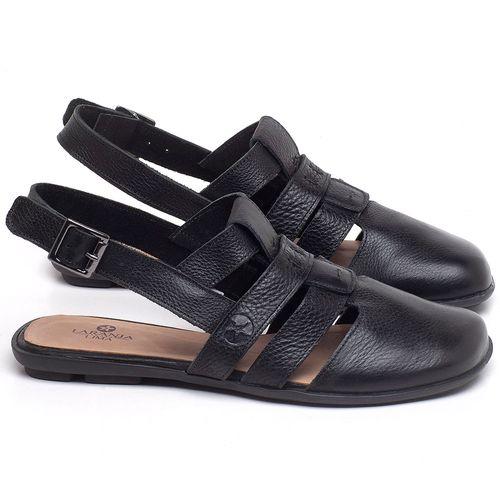 Laranja_Lima_Shoes_Sapatos_Femininos_Sapatilha_Bico_Quadrado_em_Couro_Preto_-_Codigo_-_9478_1