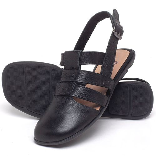 Laranja_Lima_Shoes_Sapatos_Femininos_Sapatilha_Bico_Quadrado_em_Couro_Preto_-_Codigo_-_9478_2