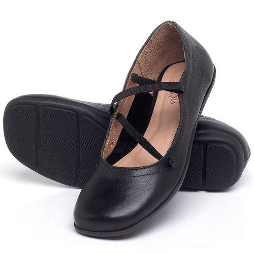 Laranja_Lima_Shoes_Sapatos_Femininos_Sapatilha_Bico_Redondo_em_Couro_Preto_-_Codigo_-_9471_2