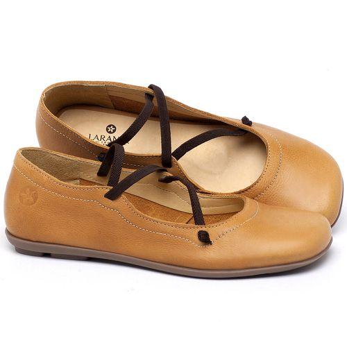 Laranja_Lima_Shoes_Sapatos_Femininos_Sapatilha_Bico_Redondo_em_Couro_Amarelo_-_Codigo_-_9471_1