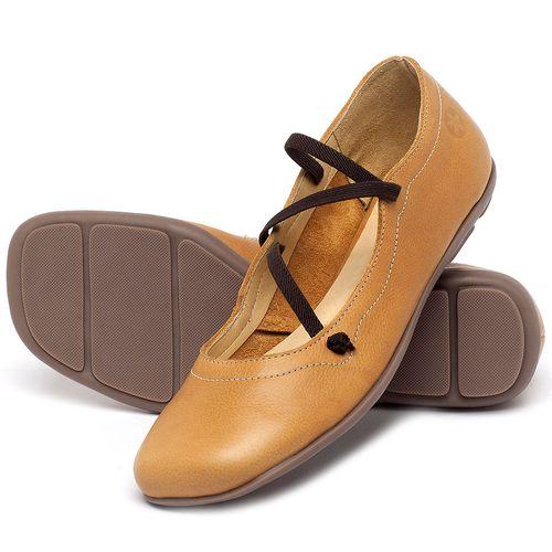 Laranja_Lima_Shoes_Sapatos_Femininos_Sapatilha_Bico_Redondo_em_Couro_Amarelo_-_Codigo_-_9471_2