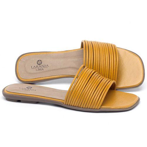 Laranja_Lima_Shoes_Sapatos_Femininos_Sandalia_Rasteira_Flat_em_Couro_Amarelo_-_Codigo_-_9480_1