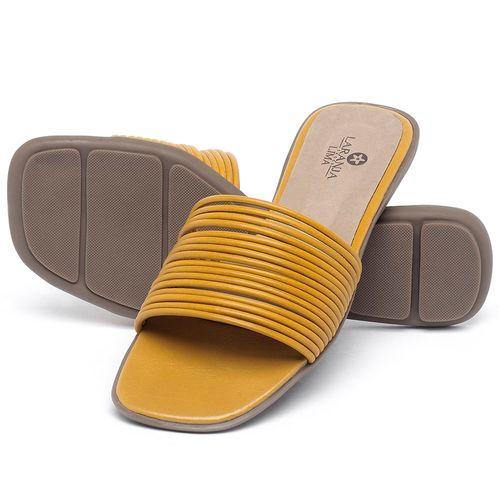 Laranja_Lima_Shoes_Sapatos_Femininos_Sandalia_Rasteira_Flat_em_Couro_Amarelo_-_Codigo_-_9480_2