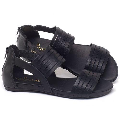 Laranja_Lima_Shoes_Sapatos_Femininos_Sandalia_Rasteira_Flat_em_Couro_Preto_-_Codigo_-_137290_1