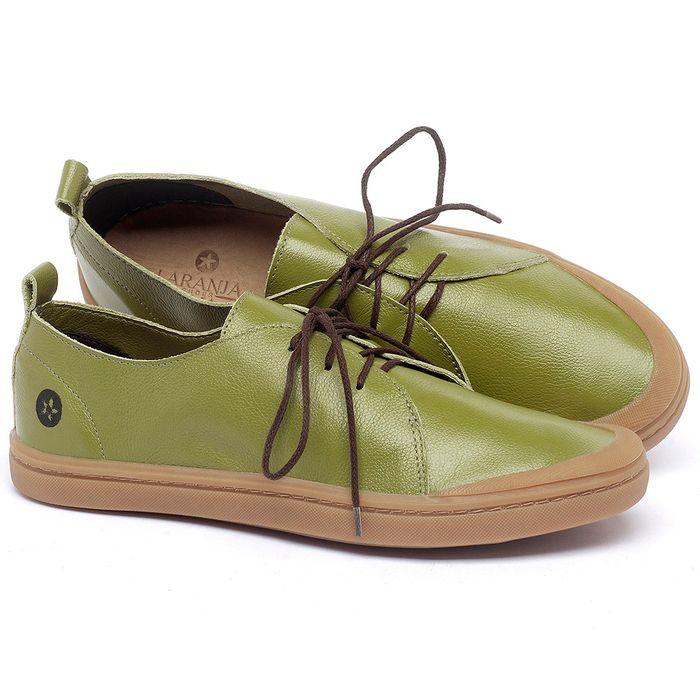 Laranja_Lima_Shoes_Sapatos_Masculinos_Tenis_Cano_Baixo_em_Couro_Verde_-_Codigo_-_141085_1