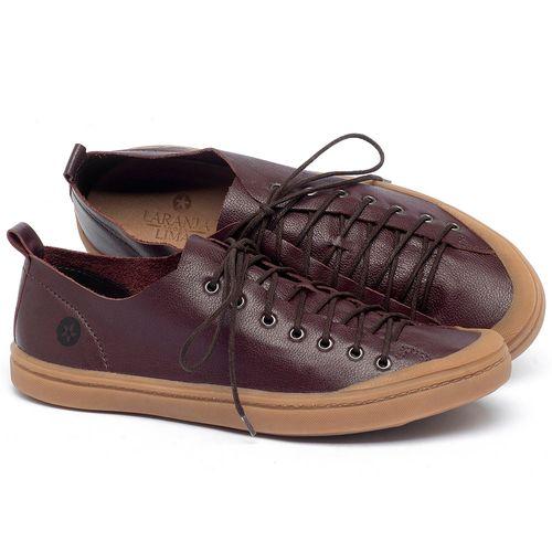 Laranja_Lima_Shoes_Sapatos_Masculinos_Tenis_Cano_Baixo_em_Couro_Marrom_-_Codigo_-_141142_1